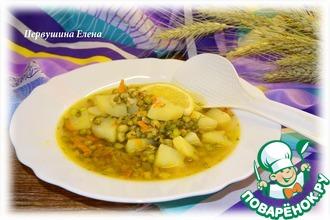 Суп с машем и имбирем