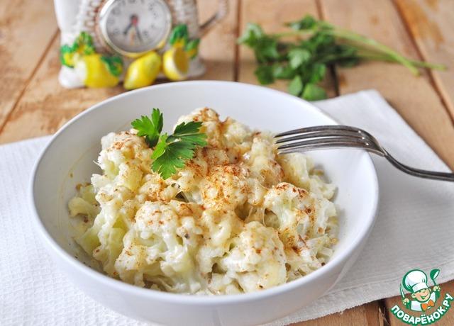 Подаём блюдо сразу горячим, украсив зеленью. Приятного аппетита!