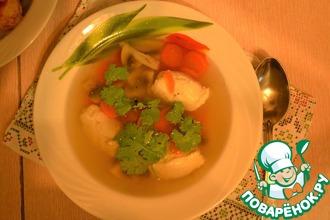 Грибной суп с куриными кнелями
