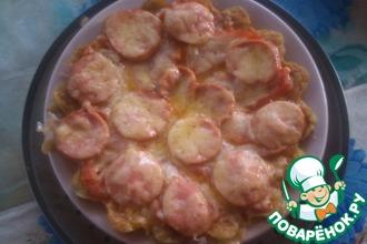Пицца на картофельной основе в микроволновке