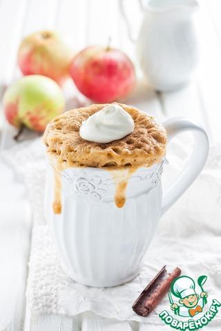 Готовый кекс присыпать молотой корицей. 2 ст. л. сметаны смешать с сахаром (по вкусу) и положить сверху на кекс.