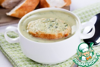 Суп-пюре из кабачков с базиликом