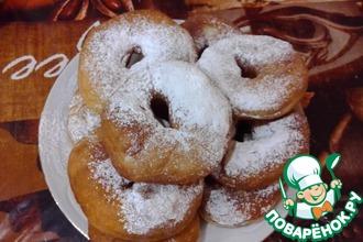 Дрожжевые пончики на сыворотке