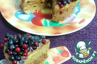 Медовый бисквитный торт с вареной сгущенкой в СВЧ