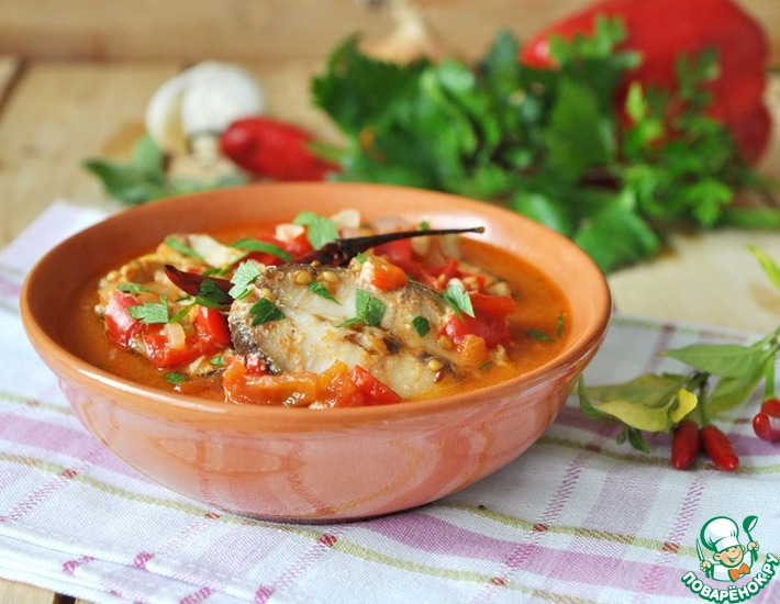 Рыба в остром томатном соусе
