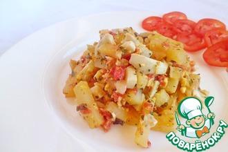 Жареный картофель с ароматной заправкой