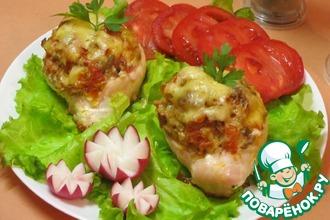 """Куриные """"лодочки"""" с овощной начинкой"""