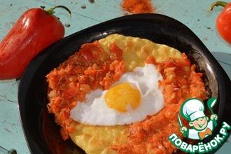 """Завтрак по-мексикански """"Уэвос ранчерос"""""""