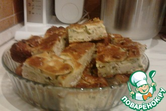 Пирог с зеленью и мясом