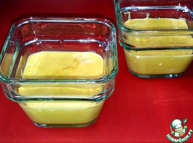 Жидкое тесто перелила в ёмкость с вместимостью 300 мл.