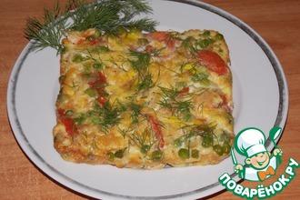 Яйца запечённые на овощах