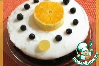 Торт-суфле на кофейно-шоколадном корже в СВЧ