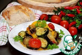 Запеченные овощи с домашней чиабаттой