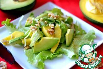 Салат из авокадо и манго