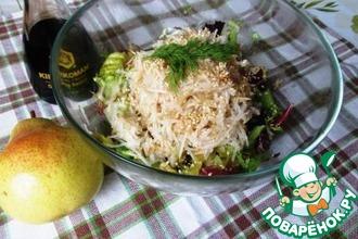 Салат из дайкона и груши