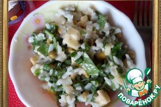 Нежный салат с кальмарами и постным майонезом