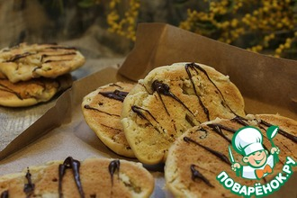Постное печенье с яблоками и черносливом