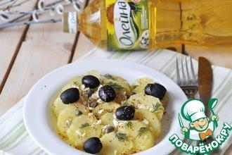 Пряный картофель с маслинами и каперсами