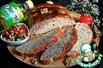 Хлеб с гречневой мукой и орехами