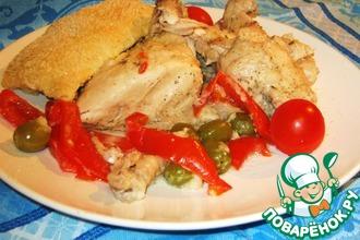 Цыплёнок, запечённый в хлебном тесте