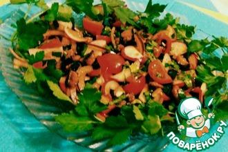 Овощной салат с запеченным баклажаном