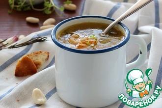 Домашний суп с белой фасолью