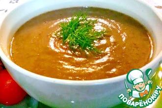 Суп-пюре чечевично-томатный