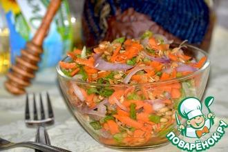 Витаминный салат с пророщенной пщеницей