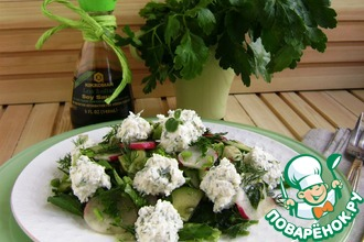 Весенний салат с брынзой