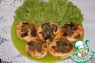 Лепёшки с баклажанами и грибами
