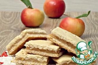 Постное печенье с яблочной прослойкой