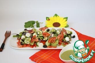 Салат с базиликовой заправкой