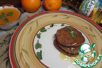 Панкейки из гречневой муки с апельсиново-мятным соусом
