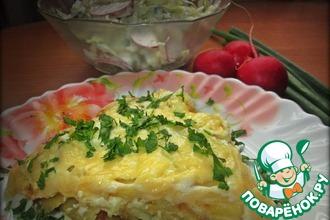 Картофель под ароматным соусом