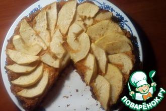 Постный тыквенно-яблочный пирог