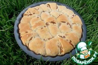 Луковый пирог на картофельном тесте