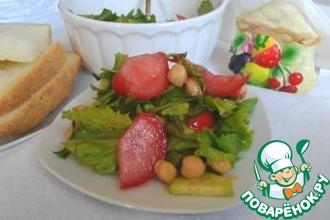 Салат с рукколой и нутом