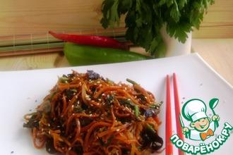 Салат с морковью и грибами по-китайски