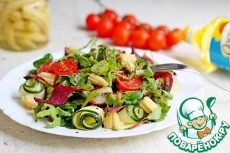 Весенний салат со спаржей