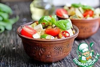 Теплый овощной салат с молодым картофелем