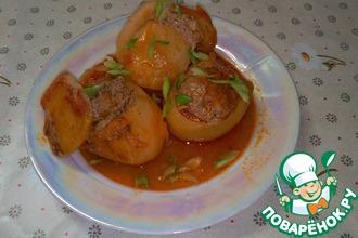 Картофель, начиненный мясом
