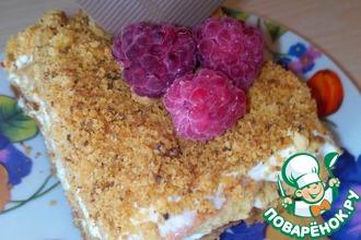 Песочные пирожные с творожным кремом и ягодами