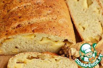 Овсяный хлеб с сыром и орехами