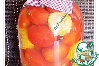 Консервированные помидоры с кукурузой