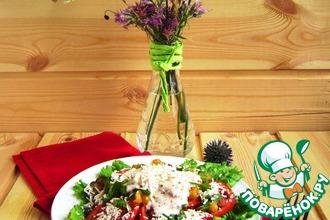 Салат-гриль с нутом и баклажанами