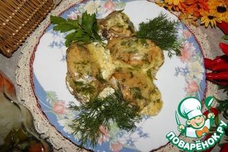 Курица в сырно-сливочном соусе