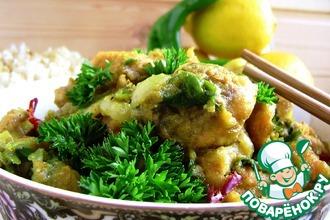 Рыбное карри на читинский манер