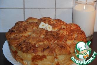 Хлеб с чесночной заливкой и сыром