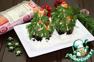 """Порционный салат """"Новогодняя Ёлочка"""""""