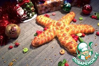 Плетеная рождественская звезда